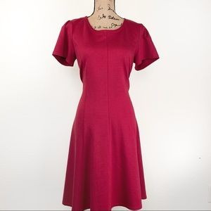 Draper James Ponte Round Neck A-Line Dress